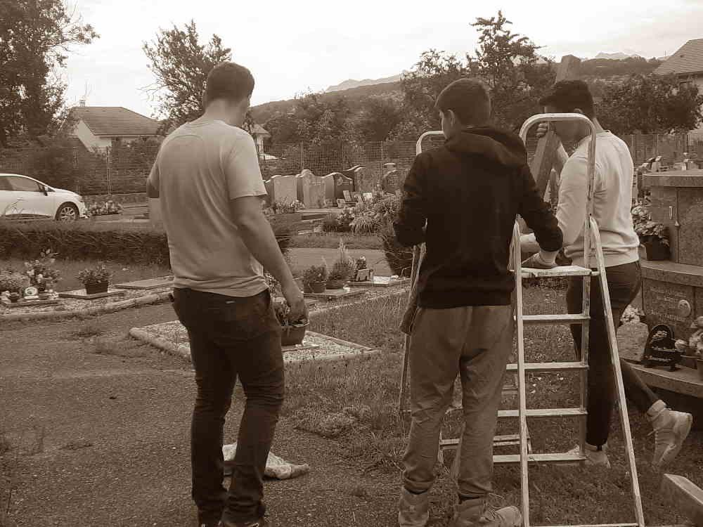 Le chantier cimetière, autre lieu d'expérimentation